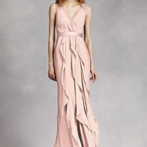 White By Vera Wang Blush Pink Bridesmaid Dress 12
